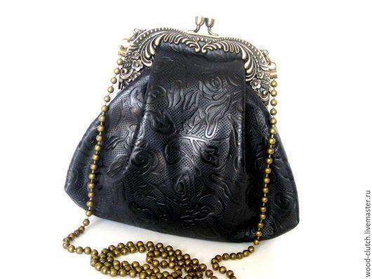Женские сумки ручной работы. Ярмарка Мастеров - ручная работа. Купить Сумочка  из  кожи темно-темно синяя. Handmade. Сумка