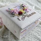 """Цветы ручной работы. Ярмарка Мастеров - ручная работа Альбом для новорожденной девочки """"Моя малышка """" детское цветы белый. Handmade."""