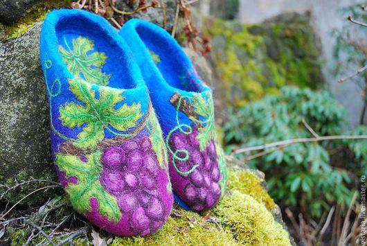 Обувь ручной работы. Ярмарка Мастеров - ручная работа. Купить Тапочки «Изабелла». Handmade. Тапочки ручной работы, шерсть 100%