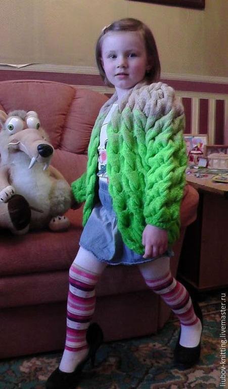 Одежда для девочек, ручной работы. Ярмарка Мастеров - ручная работа. Купить Детский кардиган  на девочку 4-5 лет. Handmade.