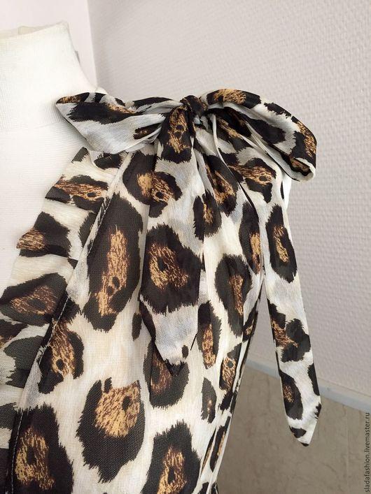 Пляжные платья ручной работы. Ярмарка Мастеров - ручная работа. Купить Пляжная накидка леопардовая. Handmade. Комбинированный, пляжный халат