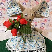Мягкие игрушки ручной работы. Ярмарка Мастеров - ручная работа Мягкие игрушки: Мышка Соня. Handmade.