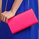 Женские сумки ручной работы. Ярмарка Мастеров - ручная работа. Купить Клатч ярко-розовый. Handmade. Розовый, ярко-розовый