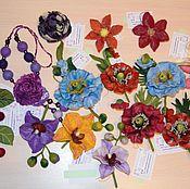 Украшения ручной работы. Ярмарка Мастеров - ручная работа Цветы из шерсти и другое. Handmade.