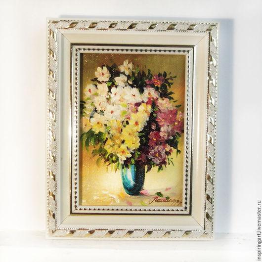 Картины цветов ручной работы. Ярмарка Мастеров - ручная работа. Купить Картина Полевые цветы холст масло картина в раме. Handmade.