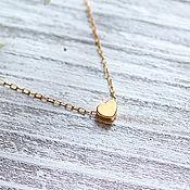 Украшения handmade. Livemaster - original item Chain: Delicate heart on a Goldfield chain. Handmade.