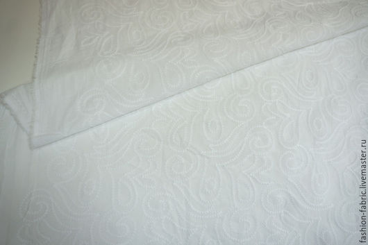 Шитье ручной работы. Ярмарка Мастеров - ручная работа. Купить Ткань Шитье белое сердечки MX 20041612 Цена за метр. Handmade.