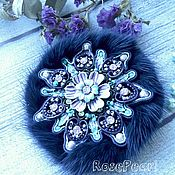 Украшения handmade. Livemaster - original item Vintage brooch with mink fur