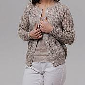 Одежда handmade. Livemaster - original item 100% linen openwork jacket with elastic band .Short sleeve shirt 2800 rubles. Handmade.