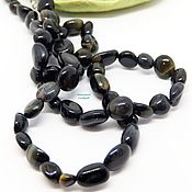 Работы для детей, handmade. Livemaster - original item Beads of Hawkeye, Black Tiger. Handmade.