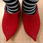 Обувь ручной работы. Ярмарка Мастеров - ручная работа Сказочные домашние тапки разм 39-40. Handmade.