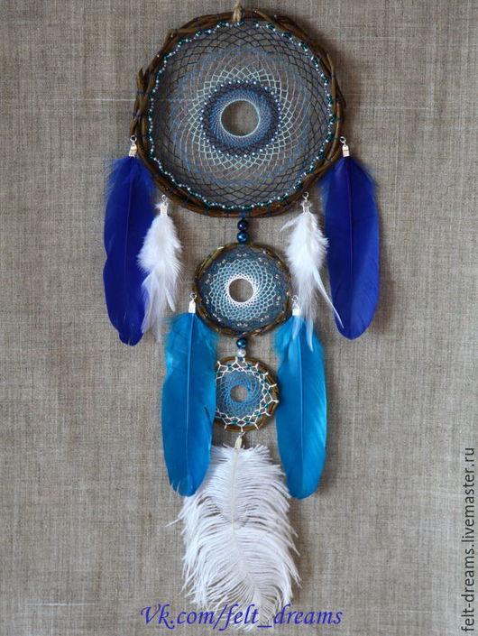 """Ловцы снов ручной работы. Ярмарка Мастеров - ручная работа. Купить Ловец снов """"Анил"""" (с санскрита – бог ветра). Handmade."""