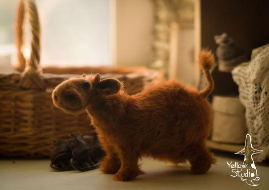 Куклы и игрушки ручной работы. Ярмарка Мастеров - ручная работа. Купить Корова на Коньках. Handmade. Рыжий, корова на коньках бык