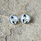Украшения handmade. Livemaster - original item Silver plated earrings Audrey Hepburn. Handmade.