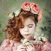 Украшения ручной работы. Ярмарка Мастеров - ручная работа Цветы из ткани - Коралловые розы. Handmade.