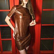 Костюм женский кожаный