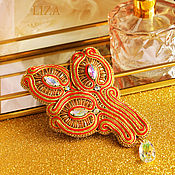 Украшения handmade. Livemaster - original item soutache brooch. Flower brooch, brooch bouquet, beaded brooch. Handmade.
