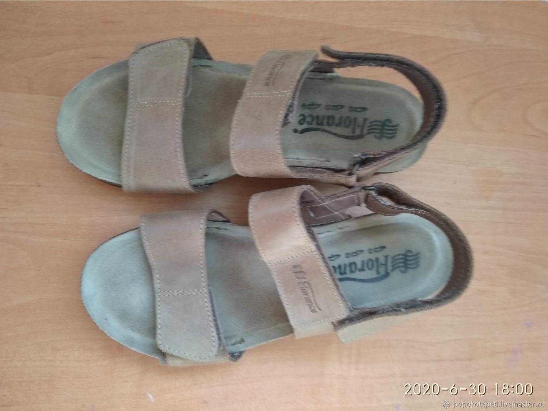 summer sandals, comfort, vintage Italy, Vintage shoes, Novorossiysk,  Фото №1