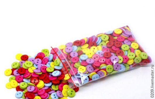 Шитье ручной работы. Ярмарка Мастеров - ручная работа. Купить пуговицы пластик 9 мм. Handmade. Комбинированный, пуговицы для игрушек