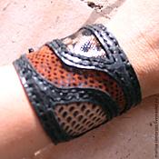 Украшения handmade. Livemaster - original item Predatory print leather bracelet. Handmade.