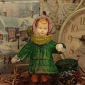 Подарки к праздникам ручной работы. Ярмарка Мастеров - ручная работа Ватная игрушка.  Девочка со снежком.. Handmade.