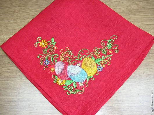 Текстиль, ковры ручной работы. Ярмарка Мастеров - ручная работа. Купить салфетка пасхальная. Handmade. Ярко-красный, православие
