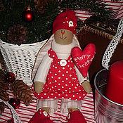 Куклы и игрушки ручной работы. Ярмарка Мастеров - ручная работа Праздничная зайка. Handmade.