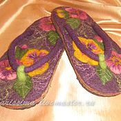 Slippers handmade. Livemaster - original item Slates