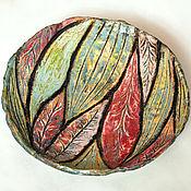 """Посуда ручной работы. Ярмарка Мастеров - ручная работа блюдо """"листья"""". Handmade."""