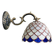 Для дома и интерьера handmade. Livemaster - original item Tiffany Wall Lamp with Brass Horn. Handmade.