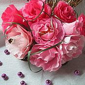 Цветы и флористика ручной работы. Ярмарка Мастеров - ручная работа Розы в ракушке. Handmade.