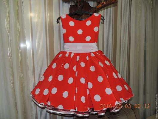 Одежда для девочек, ручной работы. Ярмарка Мастеров - ручная работа. Купить Платье в стиле Стиляги. Handmade. Ярко-красный