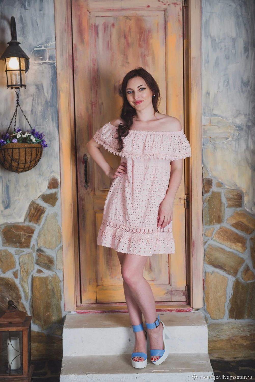 a95648a55f9 Платья ручной работы. Ярмарка Мастеров - ручная работа. Купить Легкое  летнее платье из выбитого ...