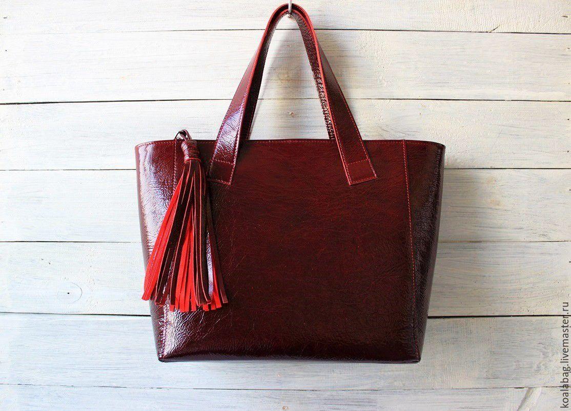 Bag 'cherry mood' patent leather, Classic Bag, Odessa,  Фото №1