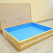 Куклы и игрушки handmade. Livemaster - original item Jungian Sandbox with Handles, retractable Lid and Blue Bottom. Handmade.