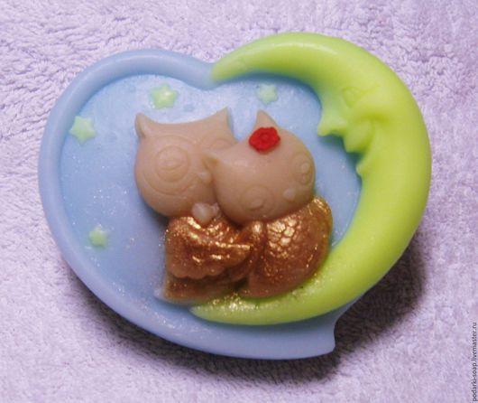 """Мыло ручной работы. Ярмарка Мастеров - ручная работа. Купить Мыло """"Совушки"""". Handmade. Разноцветный, мыло для детей, месяц"""