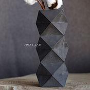 Вазы ручной работы. Ярмарка Мастеров - ручная работа Ваза из черного бетона геометрической формы в стиле Лофт. Handmade.
