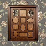 Фоторамки ручной работы. Ярмарка Мастеров - ручная работа Рамка для фото семейная. Handmade.