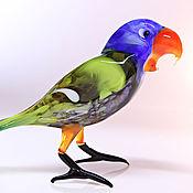Для дома и интерьера ручной работы. Ярмарка Мастеров - ручная работа Стеклянная фигурка попугая Ара. Handmade.