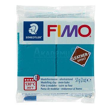 Материалы для творчества ручной работы. Ярмарка Мастеров - ручная работа Фимо FIMO Leather Effect полимерная глина 8010-369 голубая лагуна. Handmade.