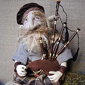 """Куклы и игрушки ручной работы. Ярмарка Мастеров - ручная работа """"Шотландский гном""""- авторская текстильная кукла. Handmade."""