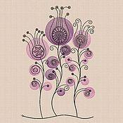 """Материалы для творчества handmade. Livemaster - original item Дизайны  для машинной вышивки """"Цветочки в кружочках bt151"""". Handmade."""