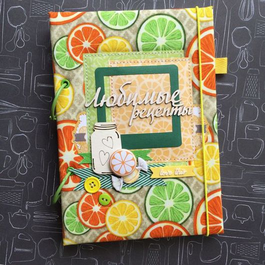 Блокноты ручной работы. Ярмарка Мастеров - ручная работа. Купить Кулинарный блокнот. Handmade. Зеленый, Блокнот для женщины, кулинарная книга