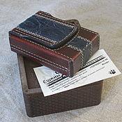Сувениры и подарки handmade. Livemaster - original item Cigarette case with crocodile insert. With gift box. Handmade.