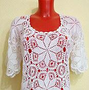Одежда handmade. Livemaster - original item white blouse. Handmade.
