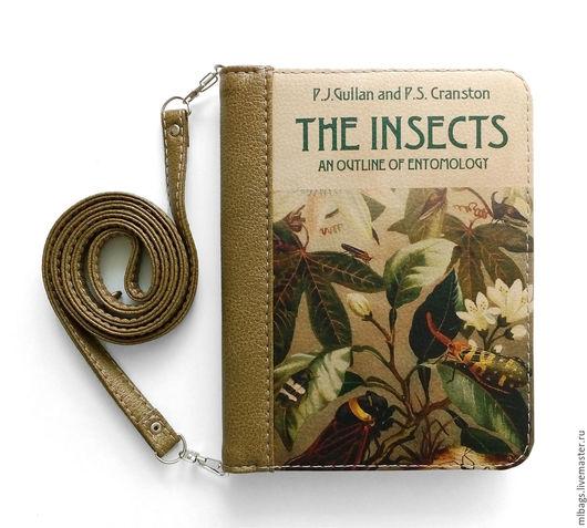 """Женские сумки ручной работы. Ярмарка Мастеров - ручная работа. Купить Клатч книга """"The insects"""" вариант 2. Handmade."""