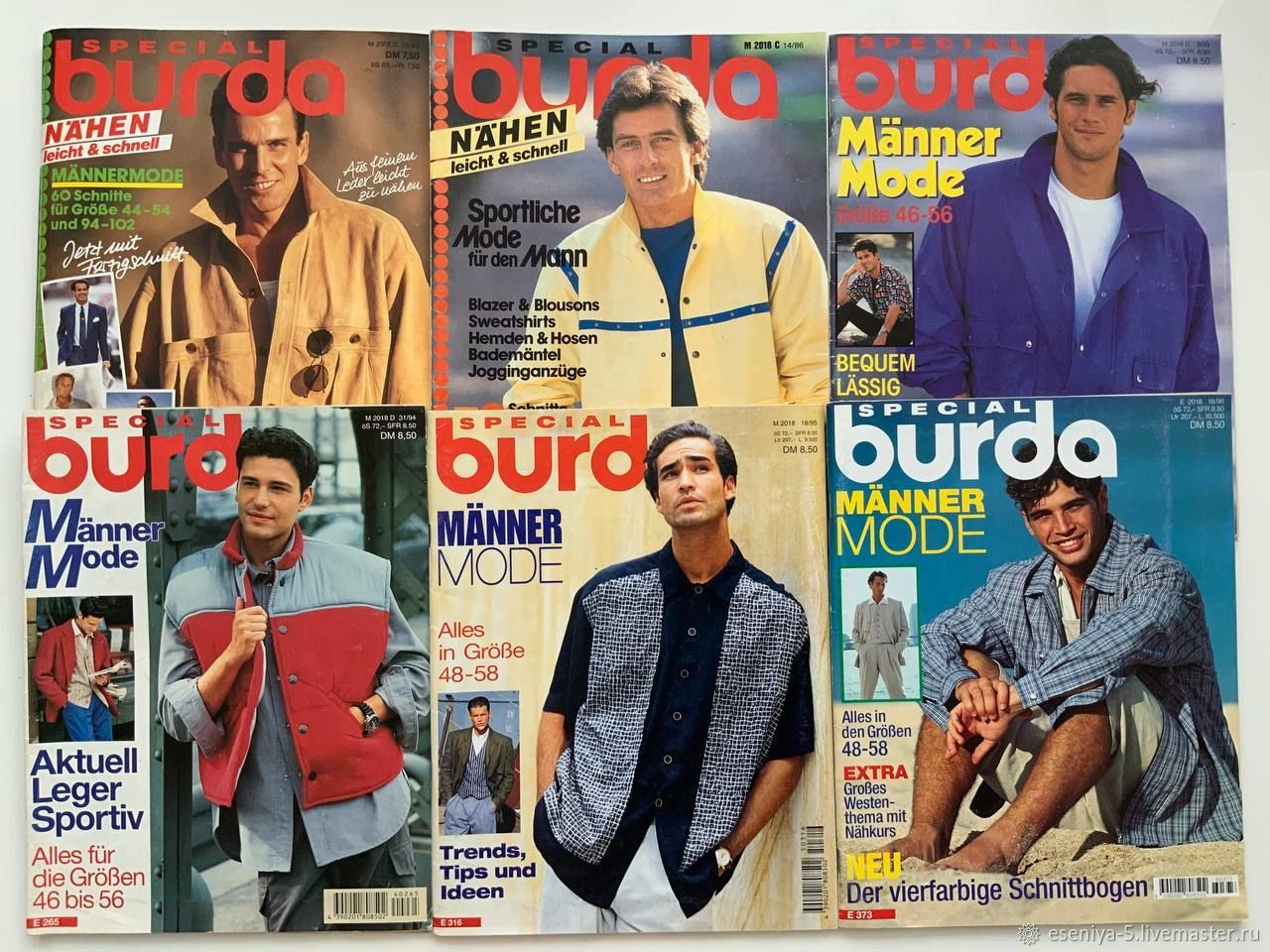 Burda Special Мужская мода 1986-1996 новые, Журналы, Москва,  Фото №1