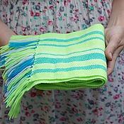Работы для детей, ручной работы. Ярмарка Мастеров - ручная работа домотканый шарф neon для детей. Handmade.