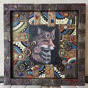 Картины и панно ручной работы. Ярмарка Мастеров - ручная работа Мастеровой лис. Handmade.