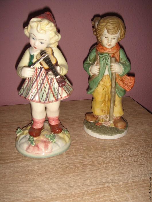 Винтажные предметы интерьера. Ярмарка Мастеров - ручная работа. Купить два музыканта Германия Италия. Handmade. Комбинированный, винтаж